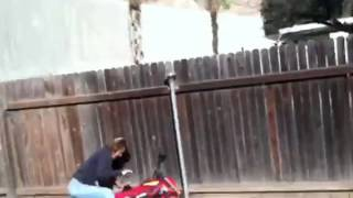 60 yr old mom dirt bike crash!