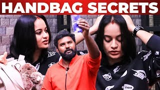 Suja Varunee HANDBAG Secrets Revealed by VJ Ashiq | What's inside the Handbag