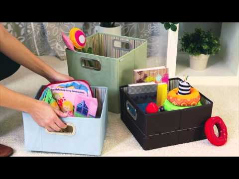 JJ Cole Storage Boxes - Organized and Clean Nursery