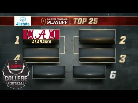 College Football Playoff Top 25 Rankings: Alabama No. 1, SEC Dominates Top 6 | College Football
