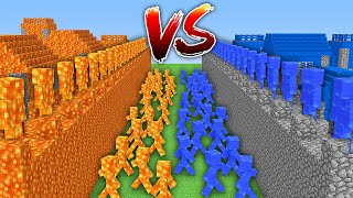 HOW to PLAY as a LAVA MAN vs WATER MAN in Minecraft ? Water vs Lava Village! CHALLENGE / Animation