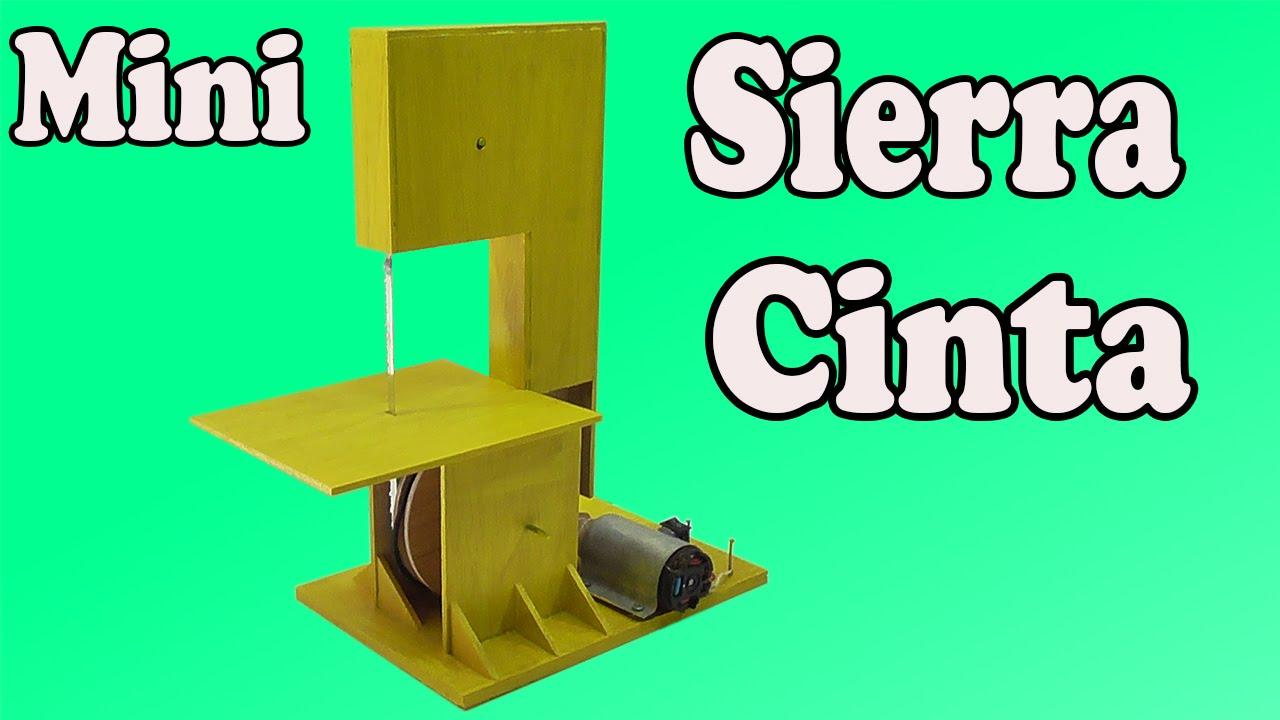 Cómo Hacer Una Mini Sierra Cinta Casera (Muy fácil de hacer) - ViYoutube