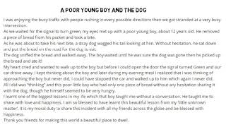 A Poor Young Boy and The Dog