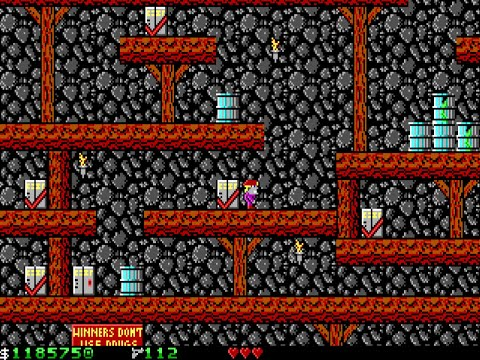 Apogee Crystal Caves I, Troubles With Twibbles, 1991. Level 5 Walkthrough