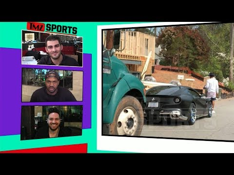 Cam Newton In Car Crash with Dump Truck | TMZ Sports