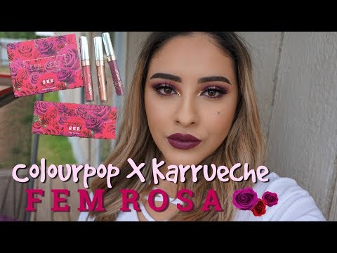 Colourpop X Karrueche Fem Rose Collection First Impression/Demo | CABRERAGLAM