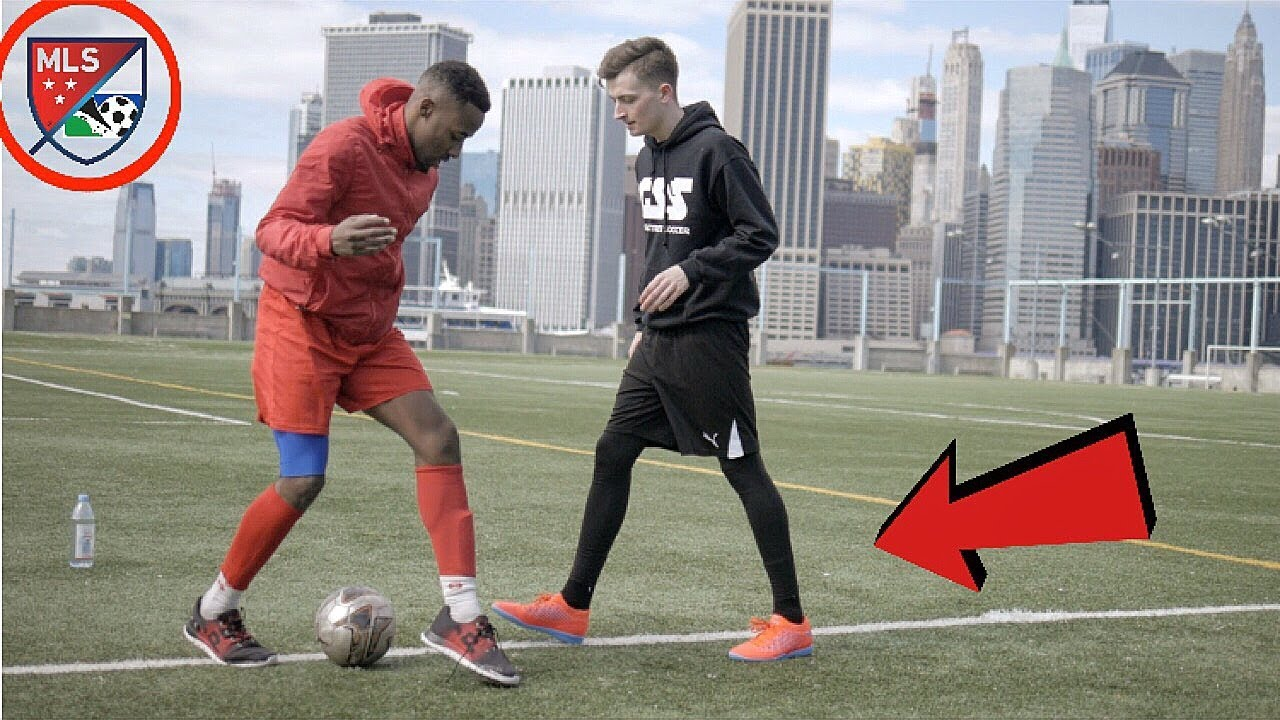 Download FOOTBALL SKILLS CHALLENGE vs PROFESSIONAL SOCCER PLAYER !? (CRAZY NUTMEGS)