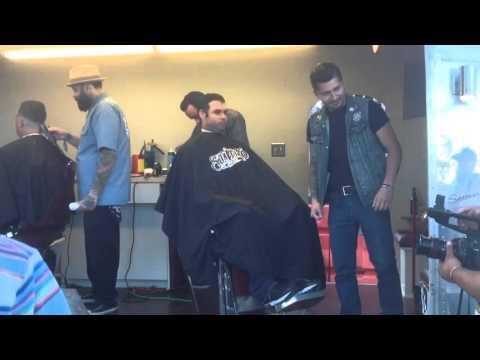Vintage Airstream Mobile Barbershop, Viva Las Vegas Barber Shop