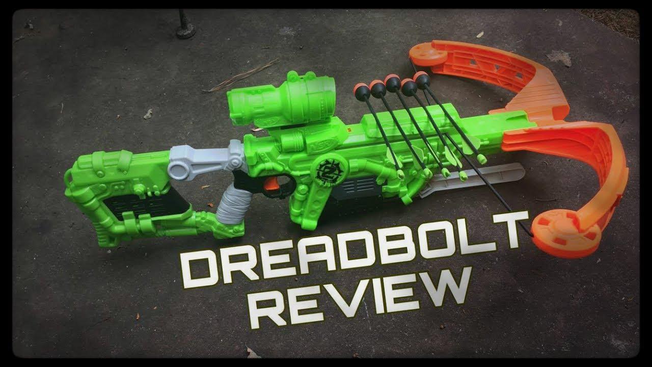 Honest Review: Nerf DreadBolt (A HUGE Zombie Strike Crossbow)