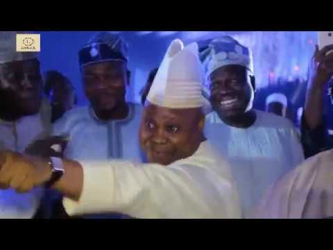 SENATOR ADELEKE'S SPECIAL DANCE AT DANGOTE'S DAUGHTER'S WEDDING