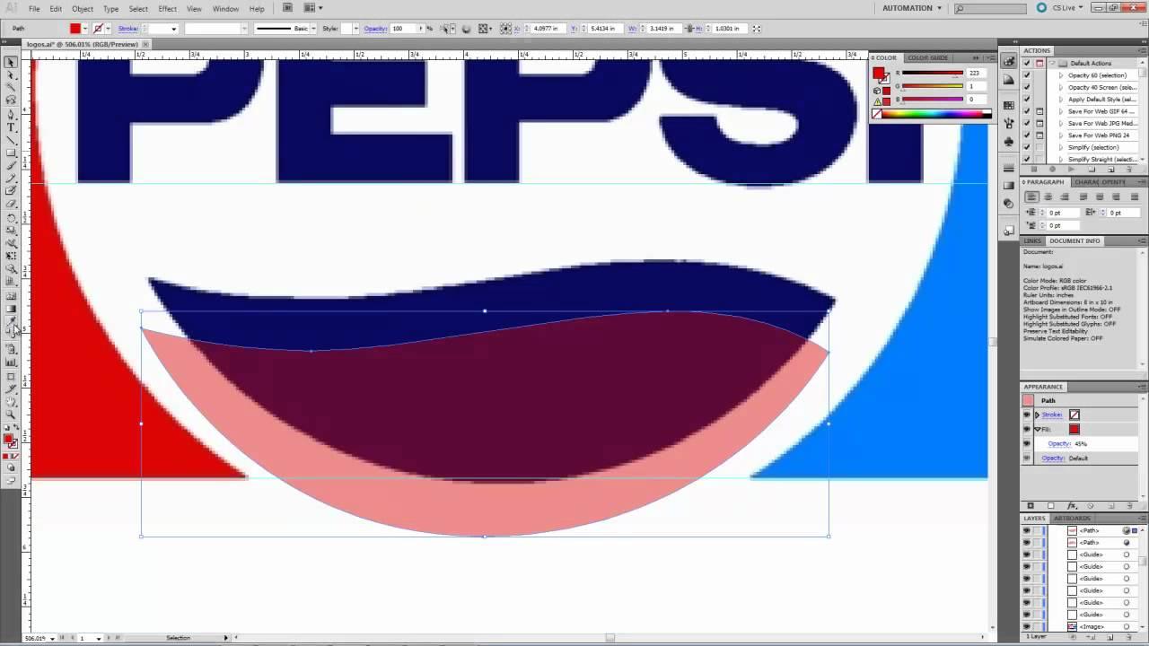Adobe Illustrator CS5: Pen Tool - Trace Logo - YouTube