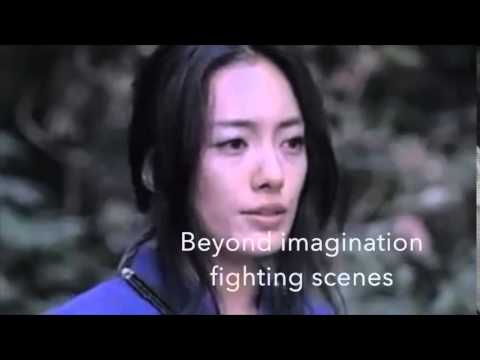 Female sword fight scene