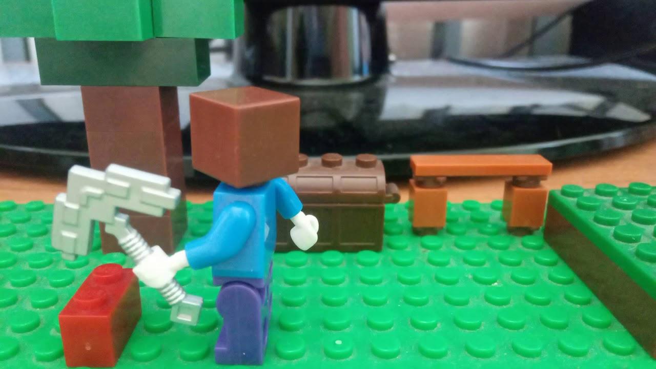 Лего Майнкрафт анимация - YouTube
