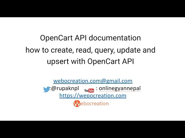 How to use Opencart API?