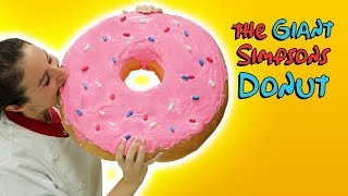 THE WORLD'S LARGEST SIMPSONS DONUT 🍩