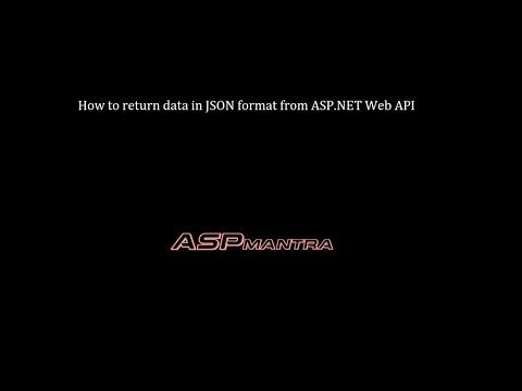 ASP.NET Web API : Return data in JSON format