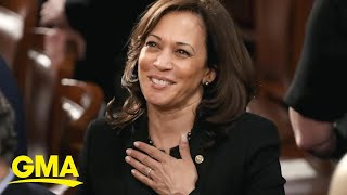 Celebrations abound as harris is also the first woman of color elected to white house.subscribe gma's page: https://bit.ly/2zq0du5 visit good...
