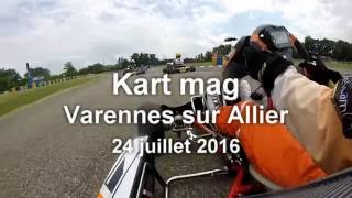 Kart mag à Varennes sur Allier: caméra embarquée en finale KZ2