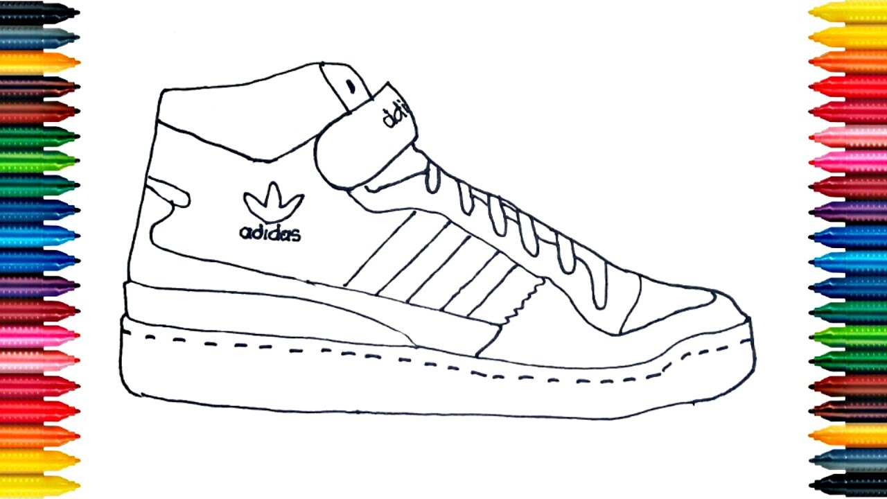 Drawing Adidas Boots How to Draw Shoes Video for Kids