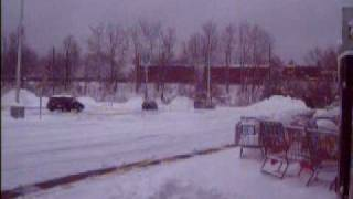 Norfolk Southern local passing TOPS MARKET Store Elmira NY