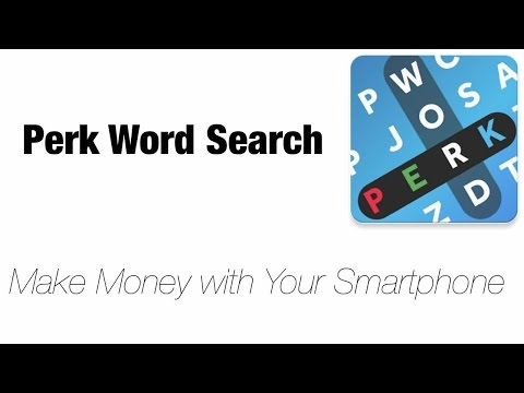 Get Paid to Do Crosswords with Perk Word Search (Perk TV Alternative)