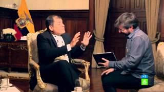 Rafael Correa le da una lección Jordi Évole respecto a la polémica con Ana Pastor