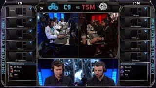 Cloud 9 vs TSM | 2014 NA LCS Spring split Season 4 W1D1 | C9 vs TSM G1