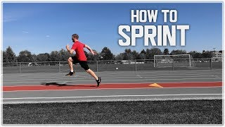 How To Sprint: Speed Training Technique to RUN FASTER!   Sprint Mechanics