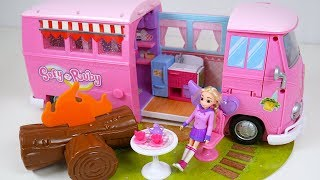 Sofy  Ruby's Pink Camping Car Camp Fire Toy Soda thumbnail