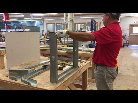 Metal Stud Framing Lesson.