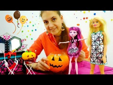 🎃 Барби и Дракулаура(Монстер ХАЙ) готовятся к Хэллоуин 🎃. Детские видео на ютьюб