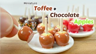 Miniature Polymer Clay Toffee + Chocolate Apples Tutorial - Dolls House Food