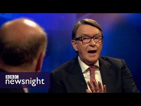 Peter Mandelson v Chris Grayling on EU referendum - BBC Newsnight
