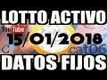 LOTTO ACTIVO DATOS FIJOS PARA GANAR  15/01/2018 cat06