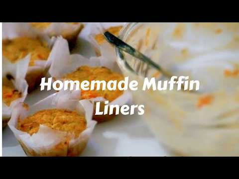 Homemade Muffin Liners - How to make Muffin Liners - Muffin Liners with Parchment Paper