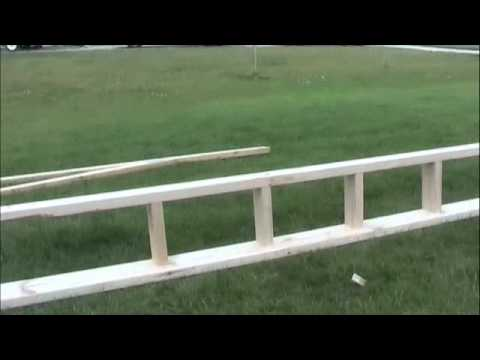 End Truss Ladder Construction Youtube