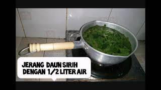 Cara membuat hand sanitizer sendiri dgn daun sirih