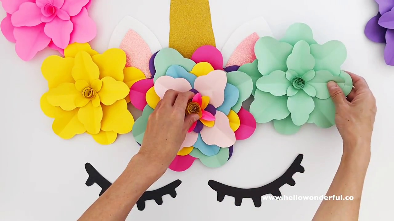 DIY UNICORN FLOWER BACKDROP - YouTube 4d90e901806