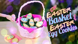DIY - How to Make: Doll Easter Basket and Easter Egg Cookies | Real Woven Basket