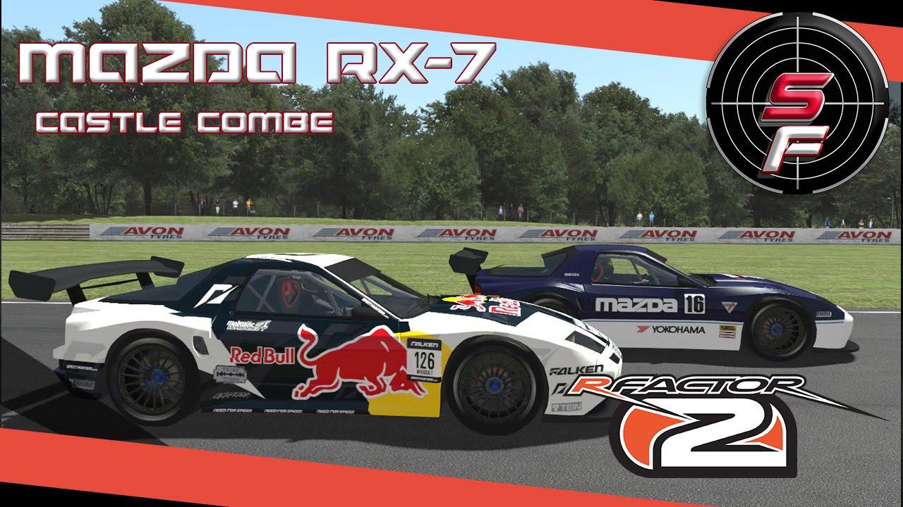 Mods: Rfactor 2 Mazda RX-7 @ Castle Combe