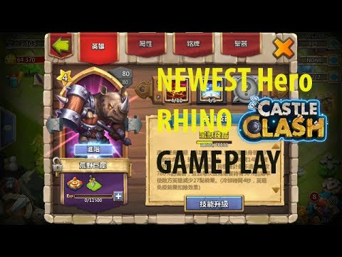 Castle Clash: Latest Hero RHINO Gameplay | Dungeon, Hbm, Mesa