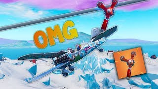 TROLLING WITH *NEW* ZIPLINE GLITCH - Fortnite Wins & fails funny moments