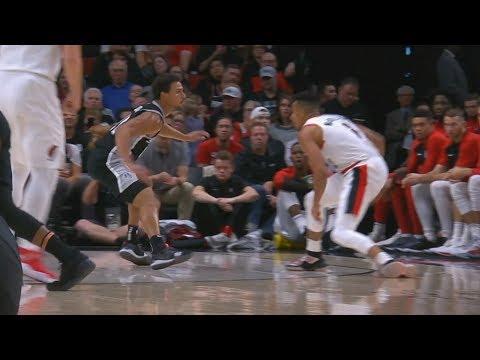 CJ McCollum Got Forbes Leaning! Spurs vs Blazers 2018-19 NBA Season
