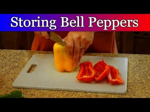 Storing bell peppers to use all year.