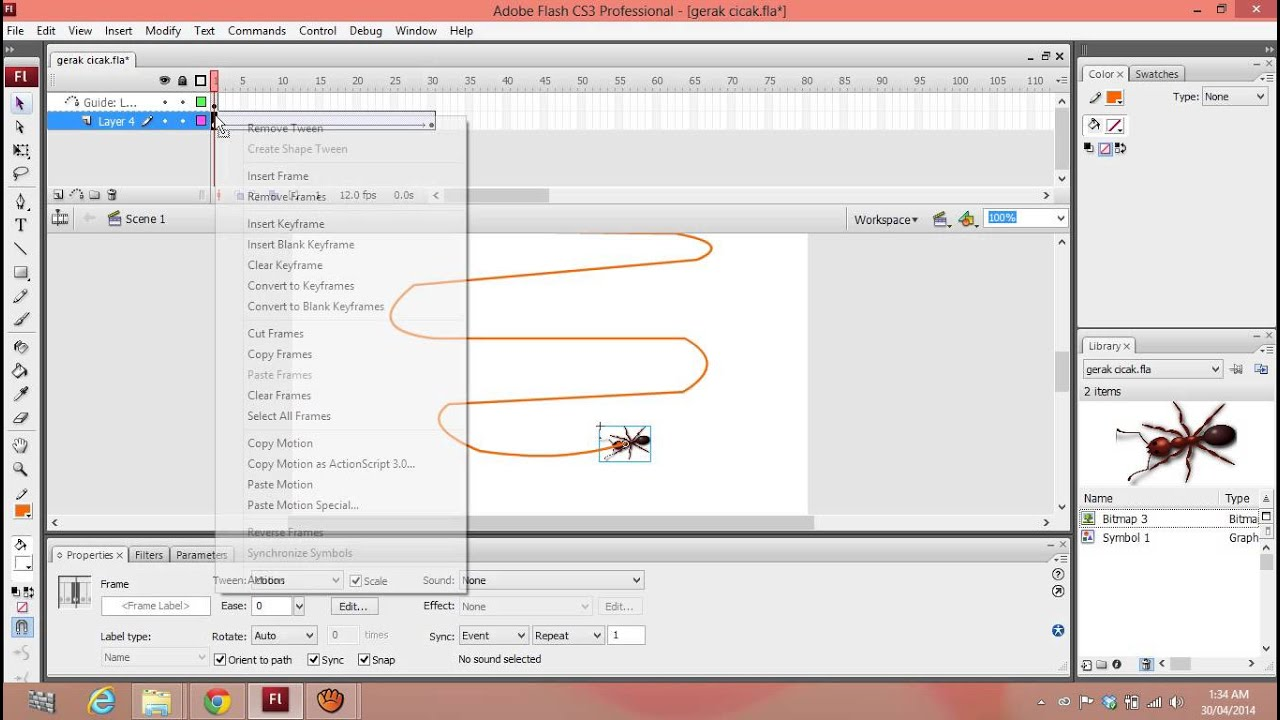 how to create motion guide in flash cs3 youtube rh youtube com Flash CS3 Icon Flash CS4