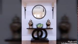 Modern console table with mirror design ideas 2019