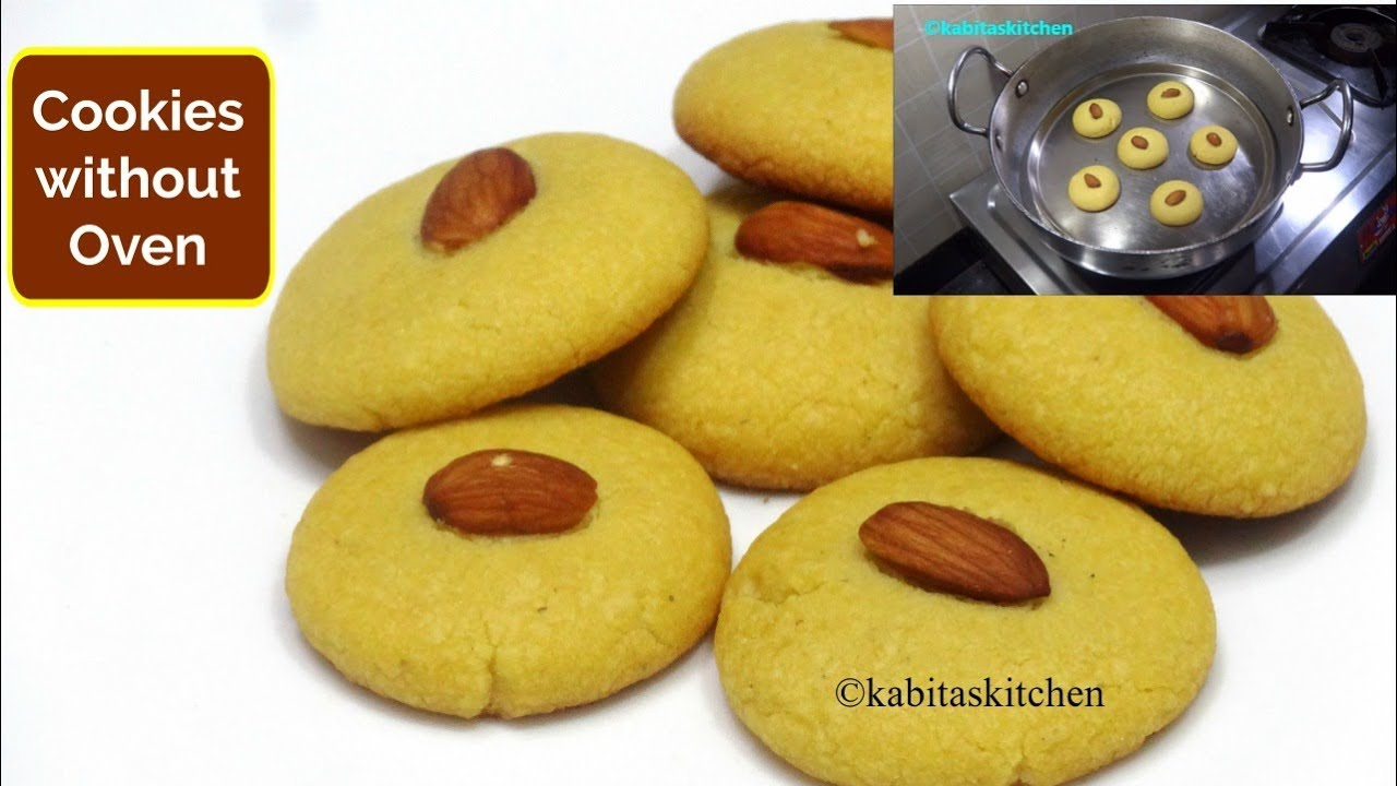Homemade Cookies Recipe | कढ़ाई में बनाये बिस्किट | Cookies without Oven | KabitasKitchen