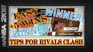 MyNBA2k18   RIVALS CLASH TIPS & STRATEGY GUIDE TO WIN +5 GAMES    Best Way To Win  