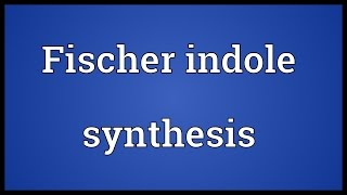 Fischer indole synthesis Meaning