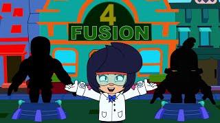 BRAWL STARS ANIMATION FUSION #4 - Rosa and El primo VS Nani and Darryl